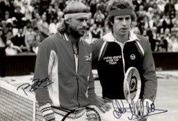 BORG & MCENROE: Björn Borg (1956- ) and John McEnroe (1959- ) Swedish and American Tennis Players.
