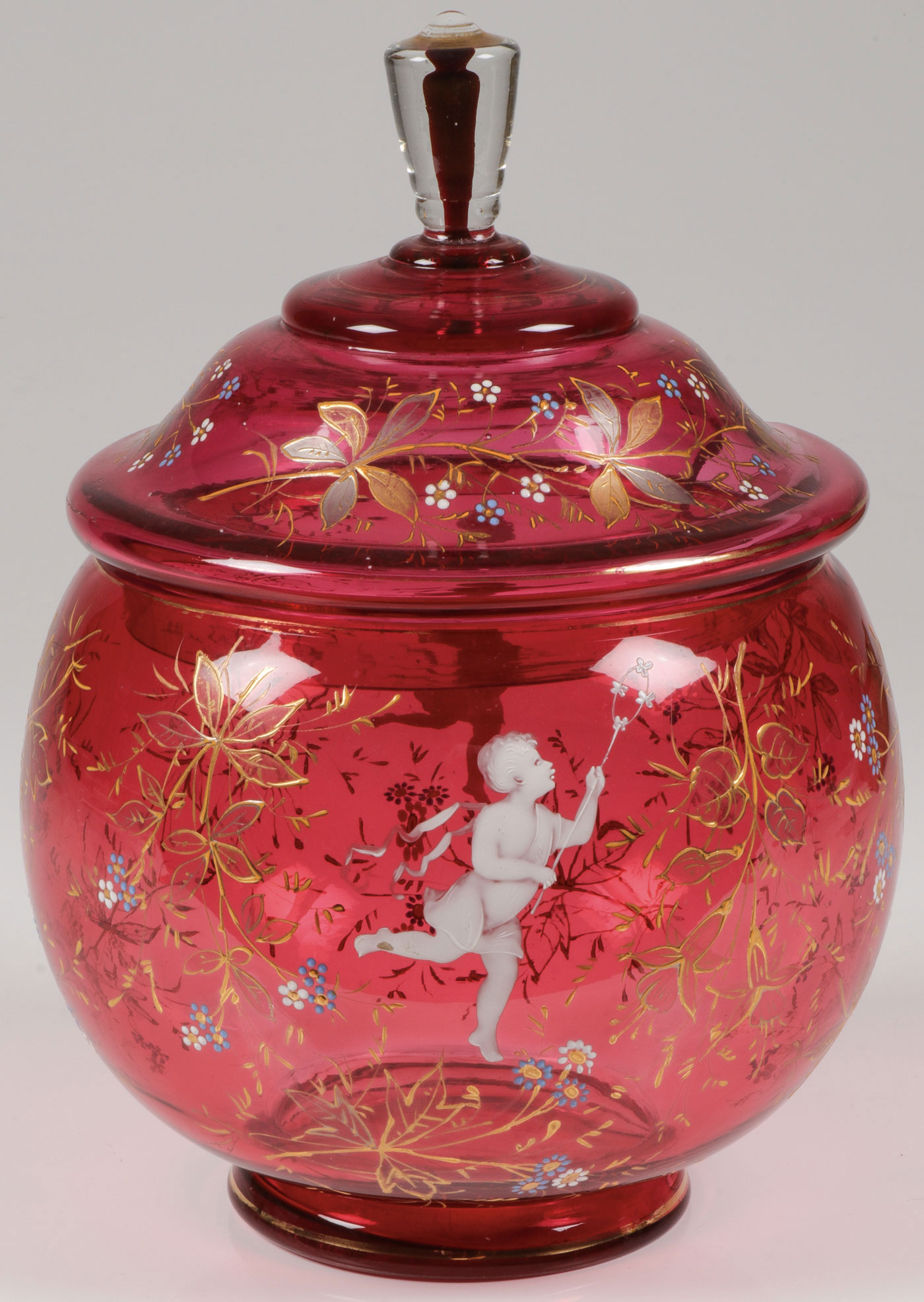 Lot 17 - MARY GREGORY CRANBERRY PUNCH SET