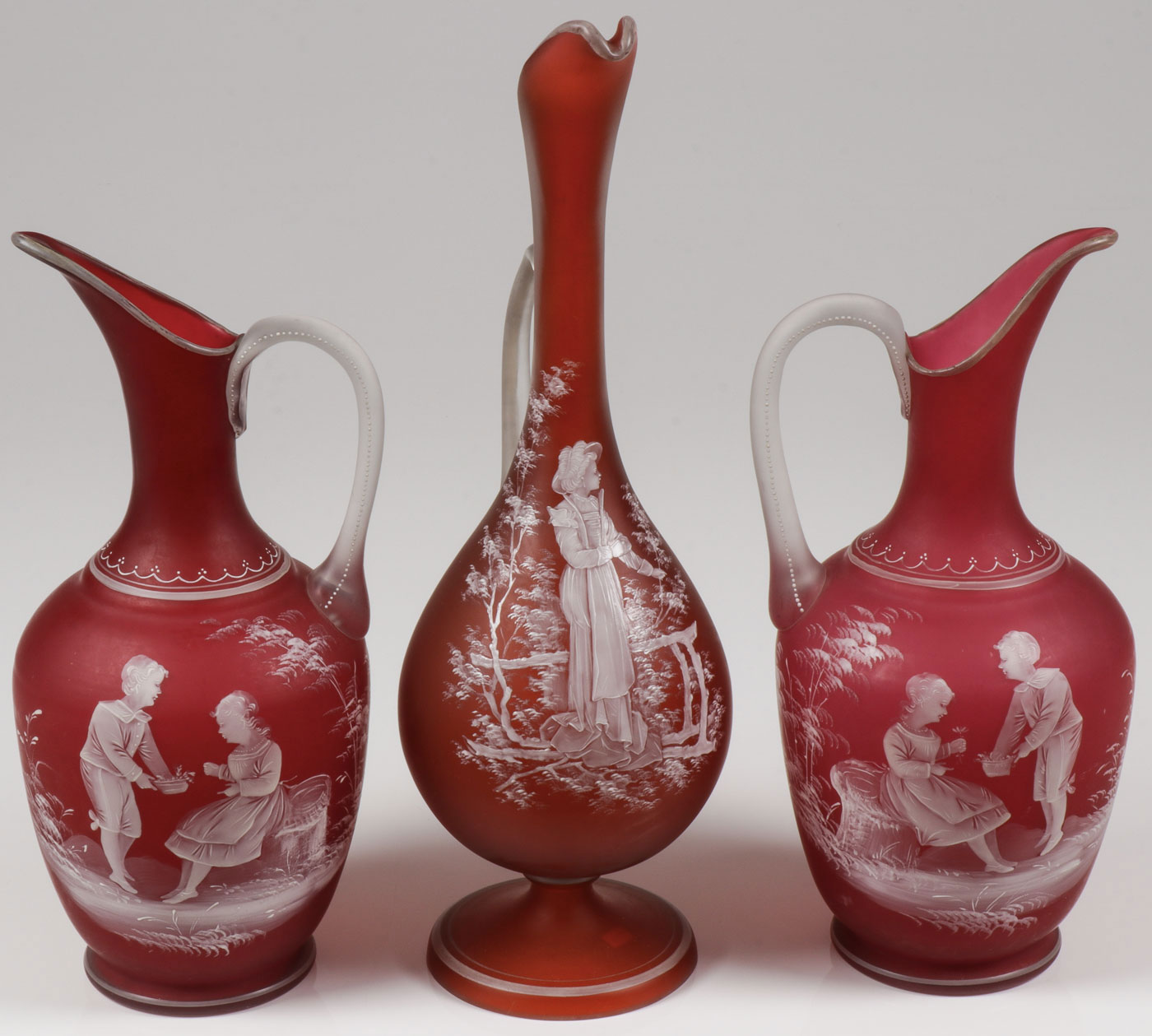Lot 11 - THREE EXCEPTIONAL MARY GREGORY EWERS