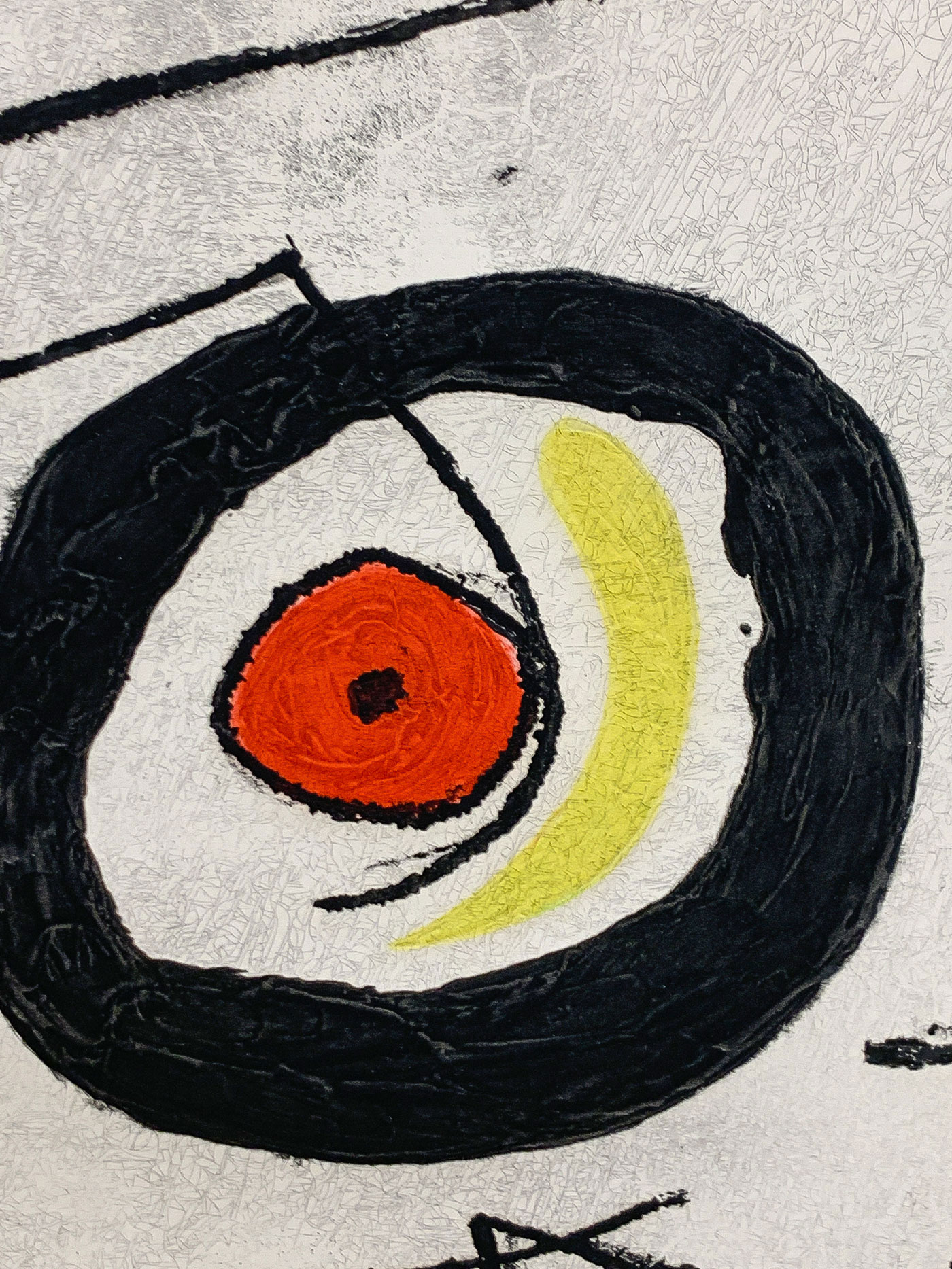 LARGE MIRO SIGNED ETCHING, 1969 - Image 4 of 8