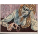 DAVID SALLE SIGNED WOODCUT