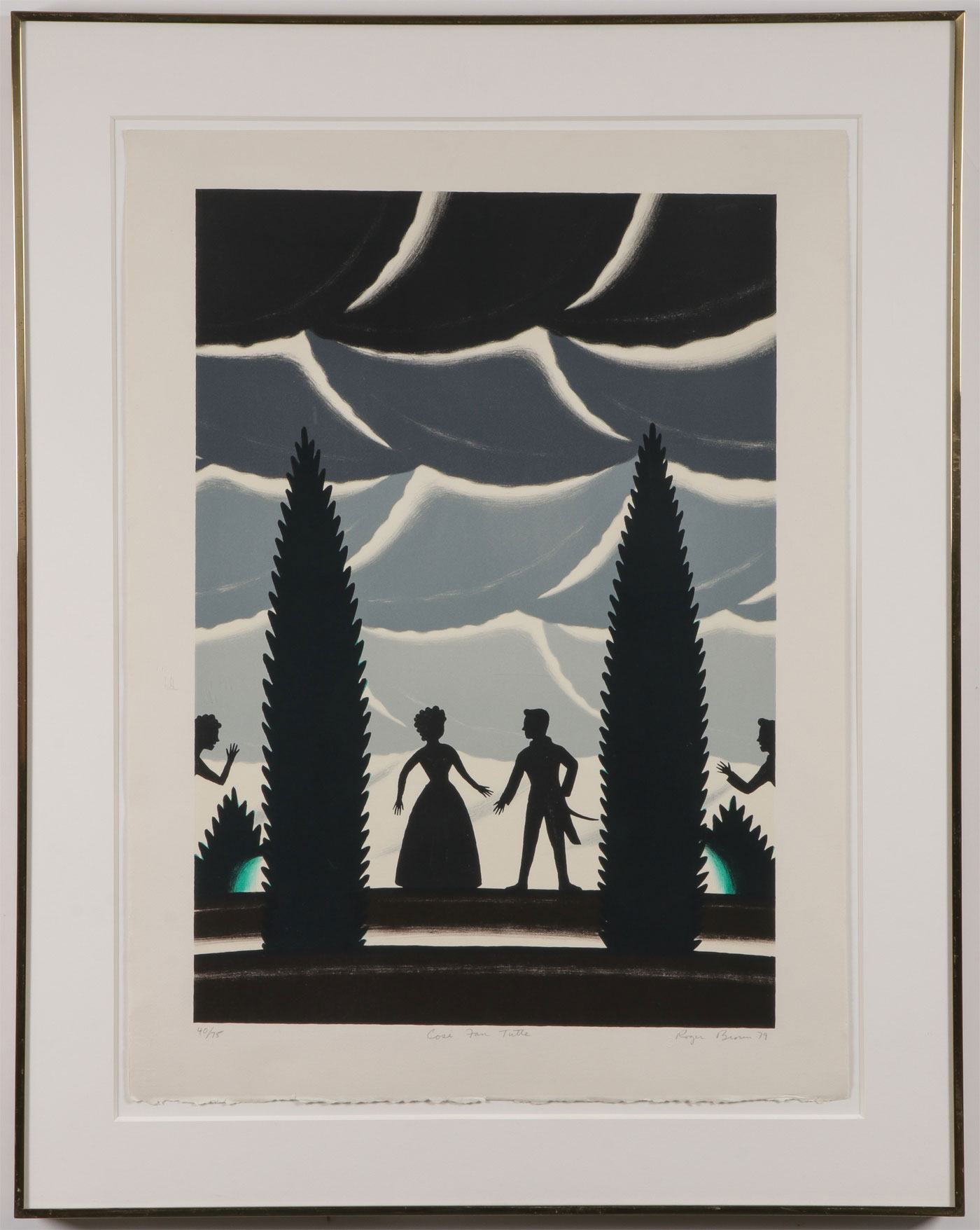 ROGER BROWN SIGNED SILKSCREEN - Image 2 of 4