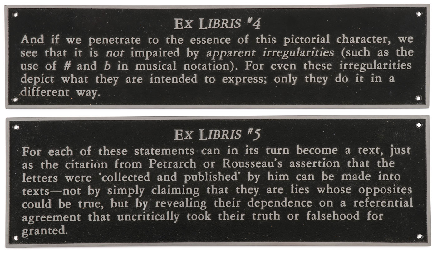 JOSEPH KOSUTH TEXT PLAQUES - Image 2 of 7