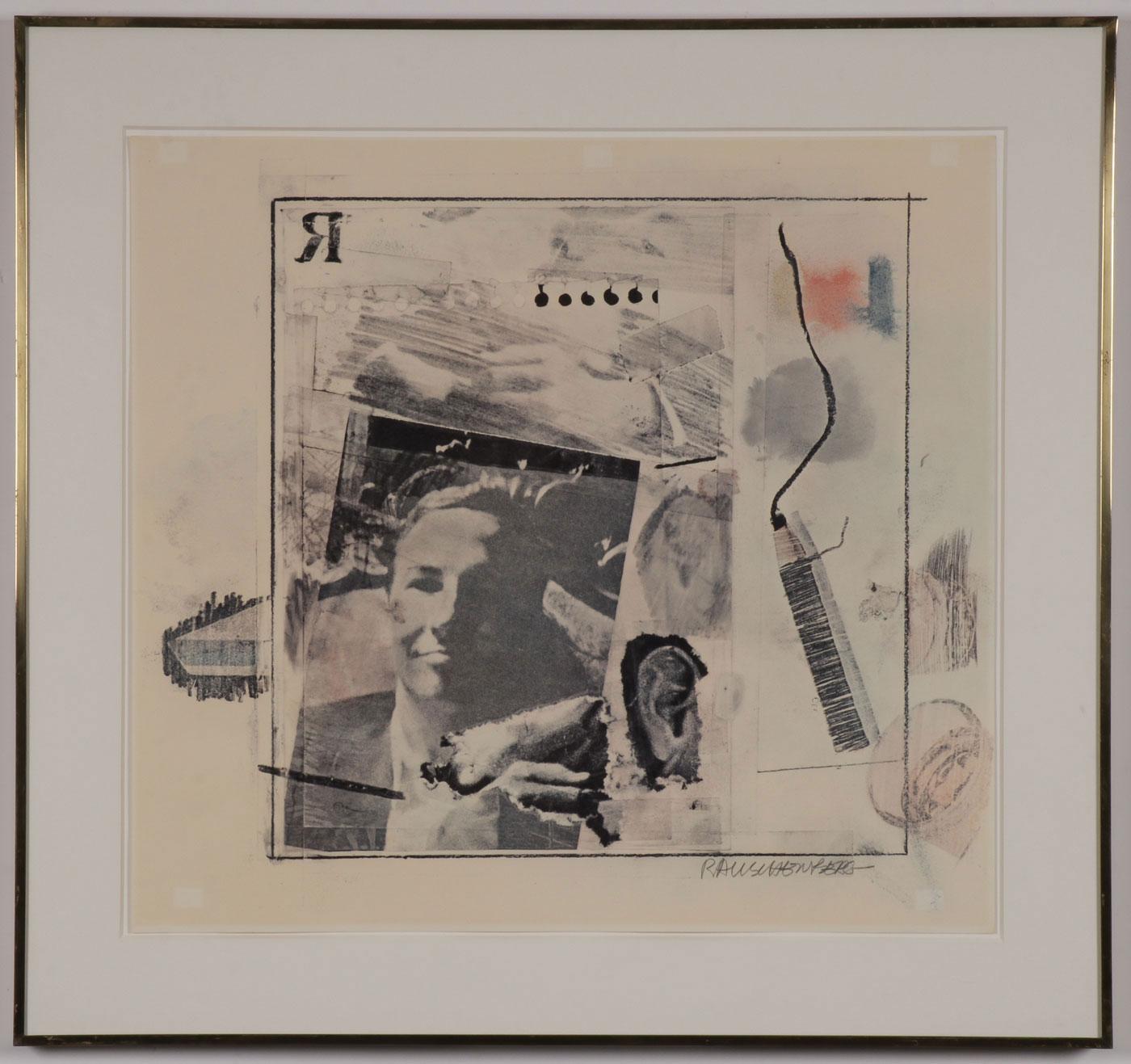 ROBERT RAUSCHENBERG SIGNED WORK - Image 2 of 4