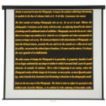 ALFREDO JAAR PROJECTION SCREEN