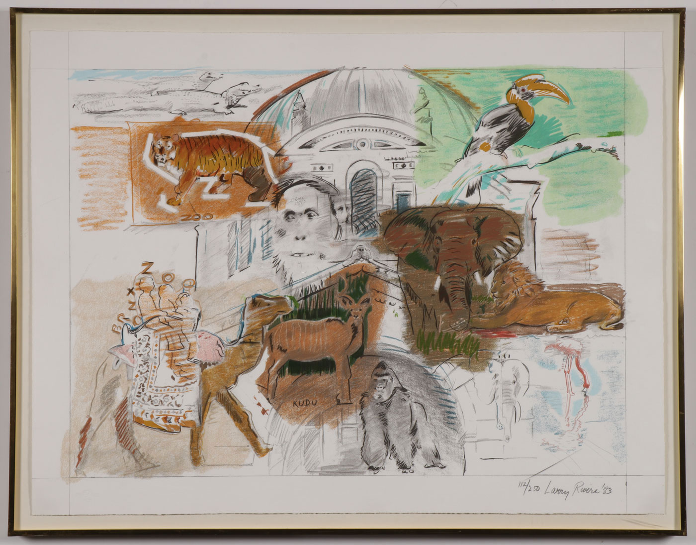 LARRY RIVERS SIGNED PRINT, 1983 - Image 2 of 4
