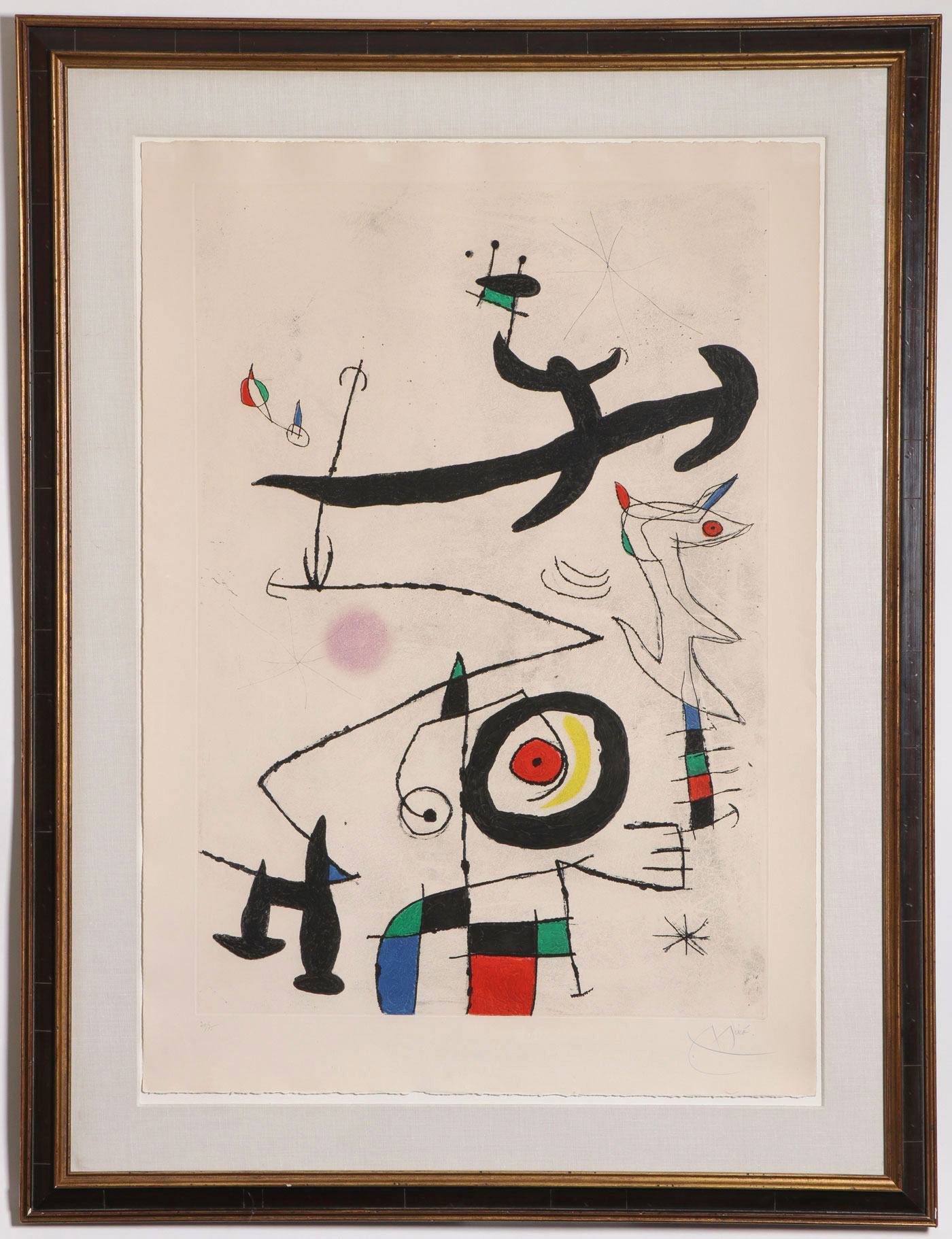LARGE MIRO SIGNED ETCHING, 1969 - Image 3 of 8