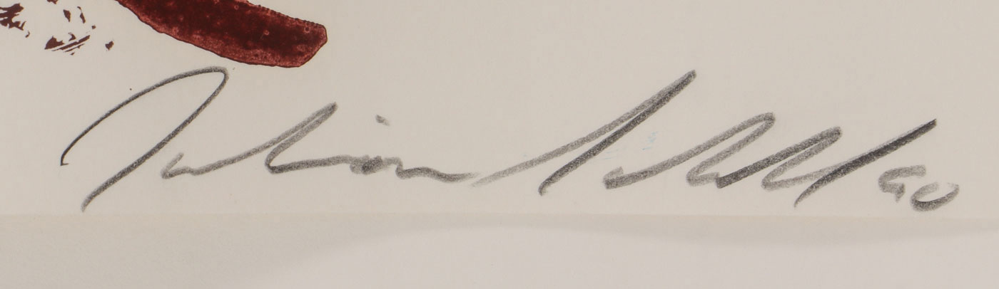 THREE JULIAN SCHNABEL SIGNED WORKS - Image 5 of 7