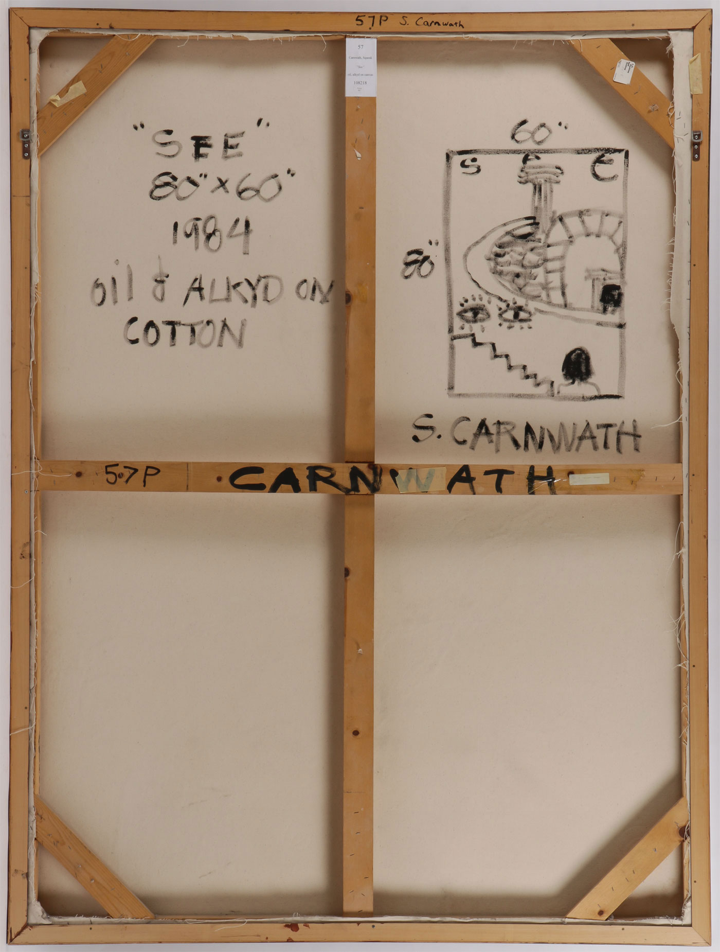 LARGE SQUEAK CARNWATH PAINTING - Image 2 of 3