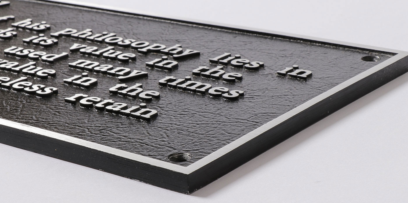 JOSEPH KOSUTH TEXT PLAQUES - Image 3 of 7