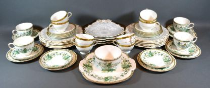 A Set of Eight Minton Winchester Cups and Saucers together with a Crown Staffordshire part tea