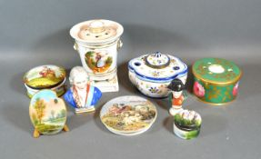 A 19th Century Paris Porcelain Pot Pourri together with a small collection of other ceramics to