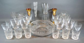 A Collection of Glassware to include a set of ten heavy wine glasses