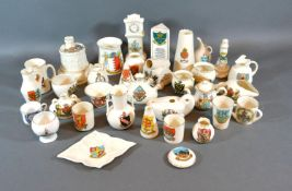 A WH Goss Crested China Jug together with a collection of other crested china to include Shelley,