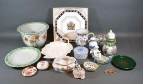 A Royal Crown Derby Kedleston Armorial Plate, together with a small collection of other ceramics