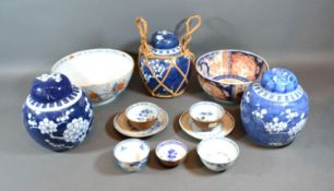 A Pair of Tea Bowls from the Nanking Cargo together with various other similar ceramics, a Chinese