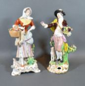 A Late 19th Century English Porcelain Figure decorated in polychrome enamels and highlighted with