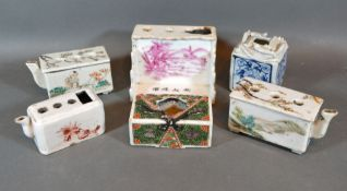 A 19th Century Chinese Brush Holder together with five other similar related holders