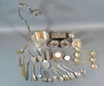 A Links of London Silver Plated Travelling Alarm Clock together with a small collection of other