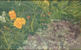 Francis Hewlett RWA 'California Poppies' Oil on Canvas monogram verso 39 x 24 cms