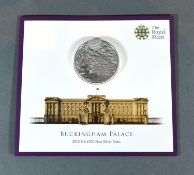 A Commemorative Silver £100 Coin Buckingham Palace, 62.86 gms