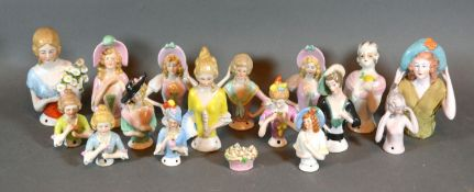 A Collection of Half Doll Pin Cushions Dolls