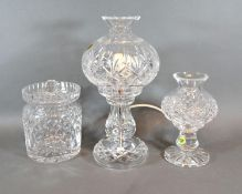 A Waterford Cut Glass Table Lamp together with various other glassware