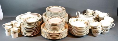 A Royal Doulton Larchmont Pattern Tea and Dinner Service comprising plates, cups and saucers and