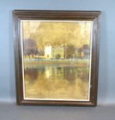 Edward William Trick 'Riverbank Summer Afternoon' oil, signed, 40 x 34 cms