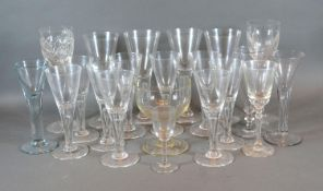 A Collection of 19th Century Pedestal Glasses together with various other later glassware