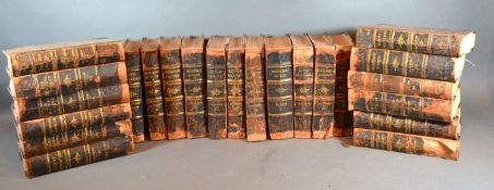 Twenty Three Volumes; Dickens, Leather Bound. 19th Century printing and bound in the USA in the