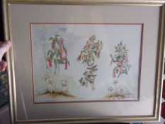 """Annelle, Van S.D.A.S., Watercolour """"Correa"""" Plants Native to Victor Harbor"""