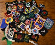 Girls Guides Cloth Patch Collection (30+) including many counties and proficiency patches 1980's
