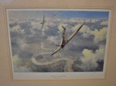 Battle of Britain Defenders of the Realm' Print by Geoff Hunt, R.S.M.A, Royal Doulton No.253/850,