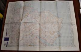 Scotland 'Cape Wrath' War Office Edition Ordnance Survey map, sheet 9 - Published 1950, folded, mint