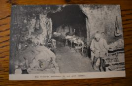 "French WWI RP Postcard of a French Field Hospital near the Front at Aisne. ""Een Fransche ambulance"