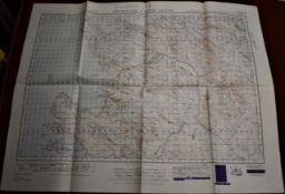 Scotland 'Lochinver & Loch Assynt' War Office edition, sheet 15 - ordnance survey map- published