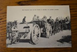 "French WWI RP Postcard of a French Artillery Division Transporting a 75mm Gun ""Het Fransche Leger in"
