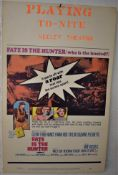 "Film Poster - Fate is the Hunter - 20th century Fox- vintage 1964 - 12"" x 24"""