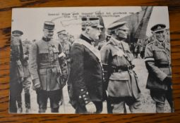 French WWI RP Postcard of the presentations of Order of Saint Michel and Saint George to General