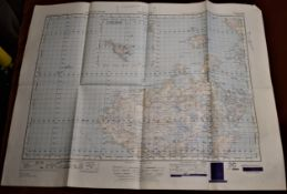 Map-Scotland-Sollas-War Office Edition-Ordnance survey map-sheet 22- published 1949-folded-good
