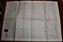 Scotland 'Stornoway' War Office Edition, ordnance survey map, sheet 14 - published 1950. Folded