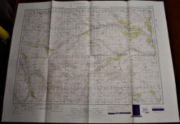 Map-Scotland-Strath Oykell-War Office Edition-Ordnance survey map- sheet 20-published 1949 - folded-