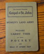 Women's Land Army Pocket Pictorial Gps[el of St. John, published: Scripture Gift Mission with