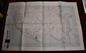 Scotland 'Wick' sheet 12, War Office Edition - ordnance survey map, published 1950. Folded in mint