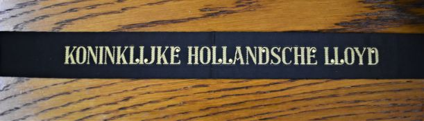 Dutch Koninklijke Hollandsche Lloyd Shipping Cap Tally:- This company ran a shipping company from