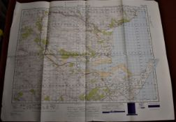 Map-Scotland-Dornoch-War Office Edition-ordnance survey map-folded-published 1949 sheet 21-good