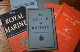 British WWII and Later Ephemera booklets (6) including: The Battle of Britain, Air Navigation,