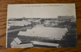 "French RP Postcard of a British-Canadian Encampment and British General Military Hospital. ""Le"
