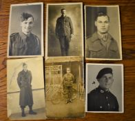 British WWI/II RP cards one in poor condition with 'Alice May (Carter) Hardings 1st husband (